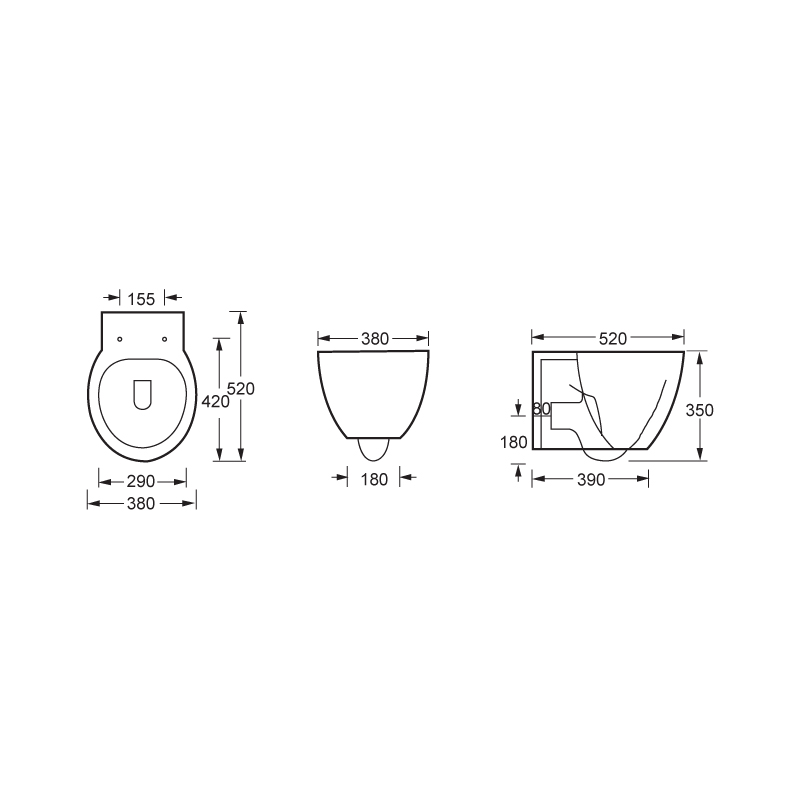 Wall Hung Toilet --CH9901